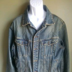 Abercrombie and Fitch A&F  jean jacket Men's Large